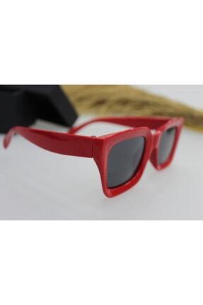 ModaLand New Mia Kare Kadın Kırmızı Güneş Gözlüğü 1