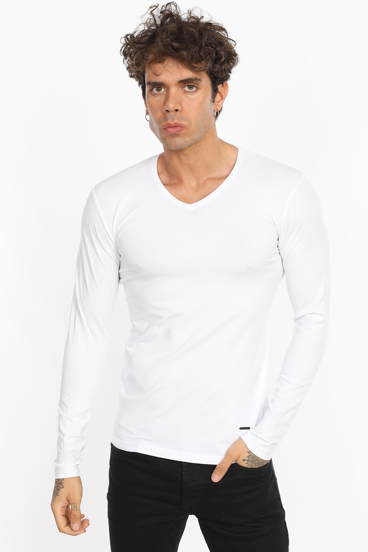 Beyaz Erkek Body