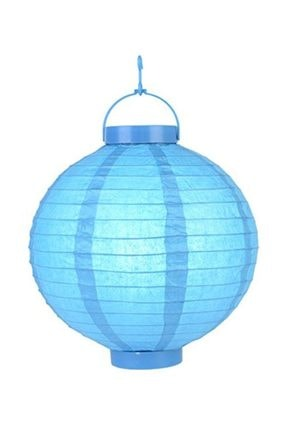 Pandoli 20 Cm Led Işıklı Kağıt Japon Feneri Bebek Mavisi Renk 0
