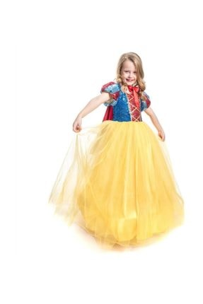 Mashotrend Tarlatanlı Pamuk Prenses Kostümü - Pamuk Prenses Kostümü Prenses Elbise - Pelerin + Taç 0