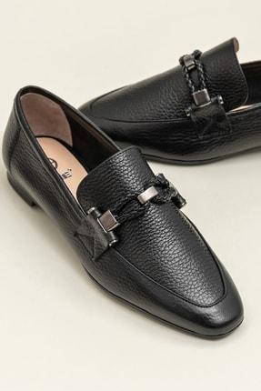 Elle ESTEFANY-1 Deri Siyah Kadın Ayakkabı 0