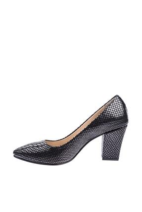 Dgn Siyah Petek Kadın Topuklu Ayakkabı 374-148 2