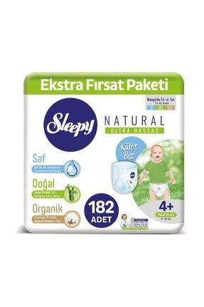 Sleepy Natural Külot Bez 4+ Numara Maxi Plus Ekstra Fırsat Paketi 182 Adet 0