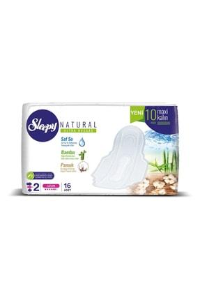 Sleepy Natural Ultra Hassas Maxi Kalın Uzun Süper Eko 16 Adet 0