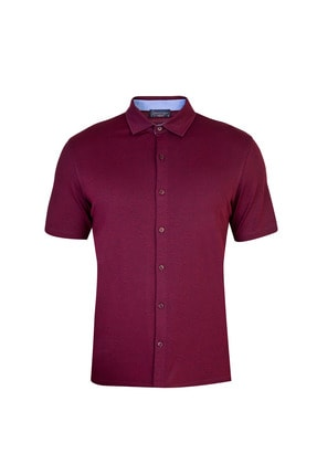 Kiğılı Yarım Italyan Yaka Regular Fit Gömlek Tişört 0