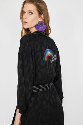 Koton Kadın Siyah Ceket 9YAK52061UW 2