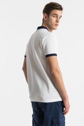 Ltb Erkek  Beyaz Polo Yaka T-Shirt 012198452060880000 4
