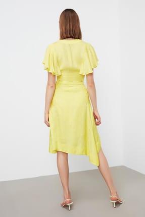 İpekyol Kadın Neon Sarı Neon  Bel Vurgulu Asimetrik Bluz IS1190006252BT1 4
