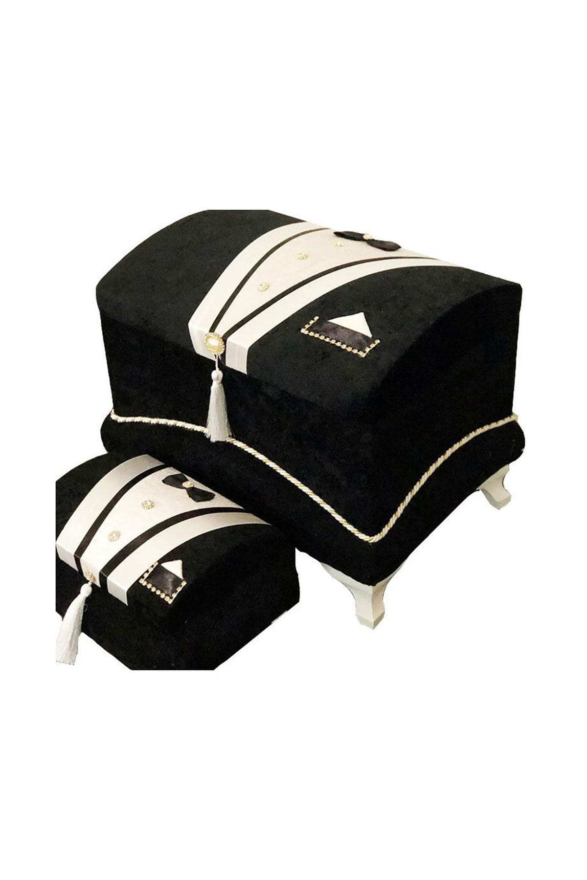 Çeyiz Sandığı Yaka Cepli Damat Model - Siyah