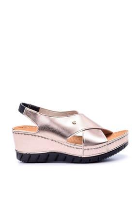 Derimod Platin Rengi Kadın Sandalet 0