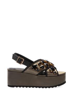 İnci Haki Kadın Sandalet 120130005620 1