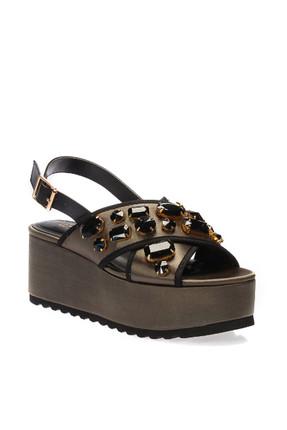 İnci Haki Kadın Sandalet 120130005620 2