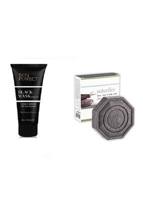 Hunca Skin Perfect Siyah Maske 100ml + Naturılıes Kil & Karbonlu Sabun 90 gr 2li Set 0