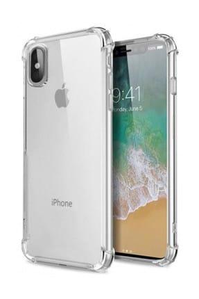 Telefon Aksesuarları Zengin Çarşım Apple iPhone X - XS Ultra İnce Şeffaf Airbag  Silikon Kılıf - Ve Ekran Koruyucu 0