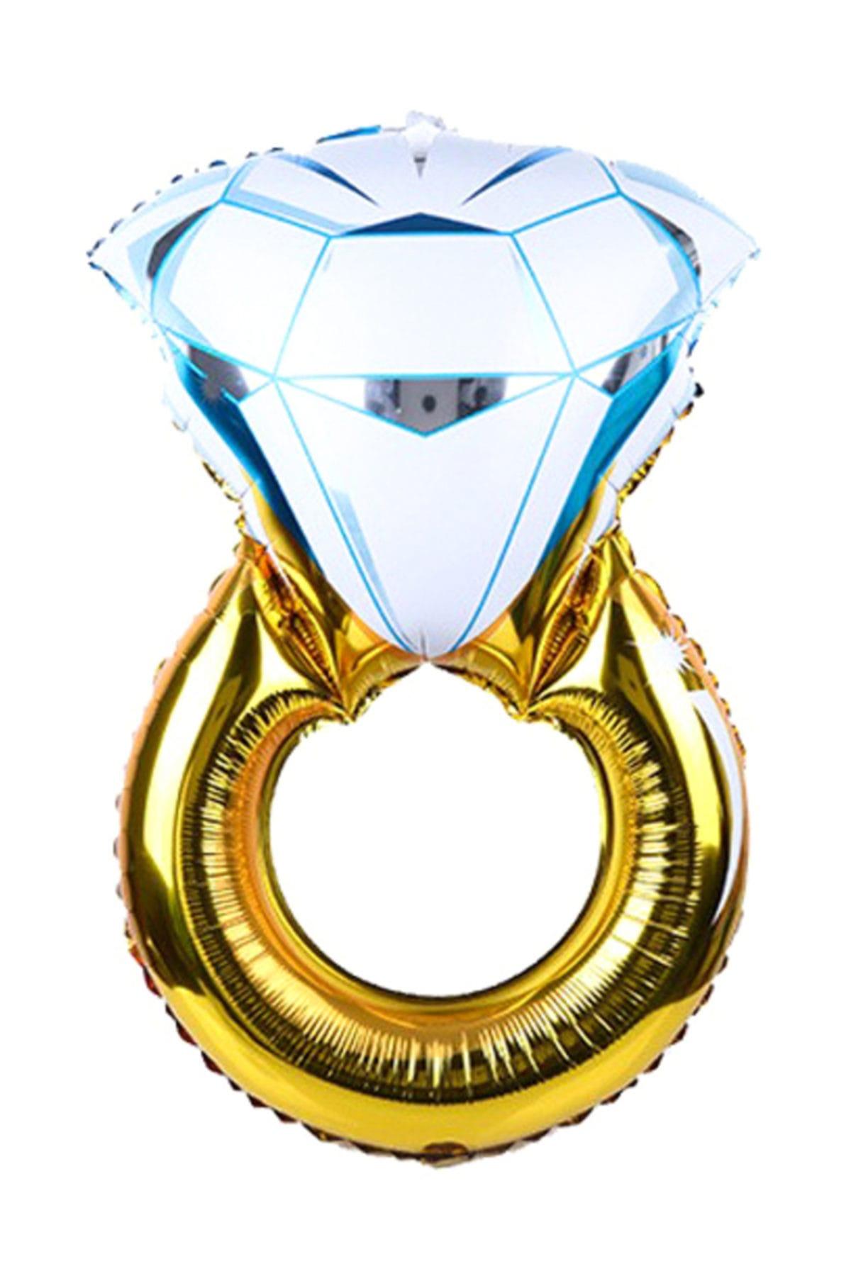 Orta Boy Evlilik Teklifi Tek Taş Aşk 40 cm. Folyo Balon cin58