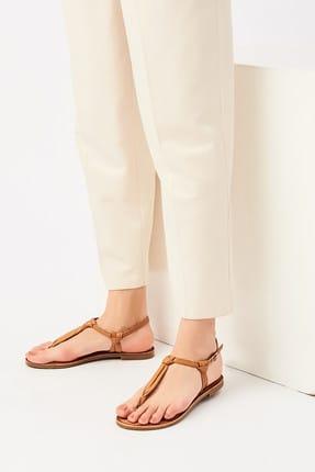 İnci Hakiki Deri Taba Kadın Sandalet 120130005456 2