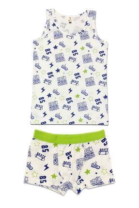ÖZKAN underwear Erkek Çocuk Desenli İç Giyim Takım 0