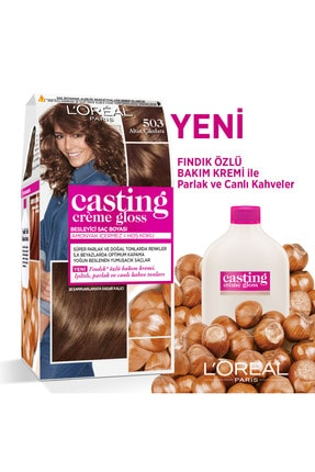 L'Oreal Paris Saç Boyası - Casting Creme Gloss 503 Altın Çikolata 3600523302857 1