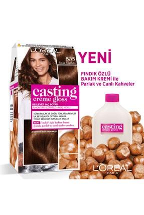L'Oreal Paris Casting Creme Gloss 535 Sıcak Çikolata   Saç Boyası - 3600523302949 1