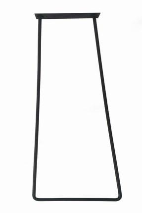 Wooden Gold Geniş Tabanlı Daha Az Ayak Kullanılan Model Siyah Rustik Tarz Üçlü Model Masa Sehpa Ayağı 80 cm 0
