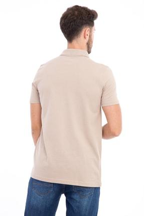 Kiğılı Erkek Bej Polo Yaka Düz Slimfit T-Shirt - 9093 1