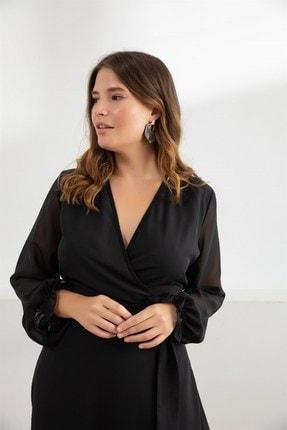 Melisita Kadın Siyah Misty Anvelop Elbise fw01965eb 2