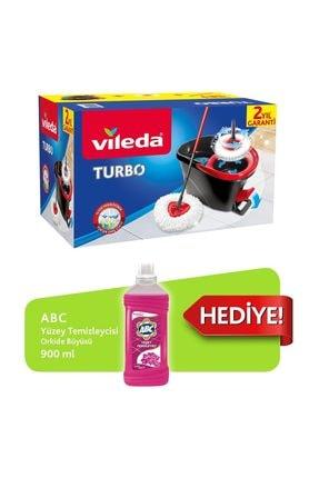 Vileda Turbo Pedallı Sistem + Abc Yüzey Temizleyici Orkide 900 ml 0
