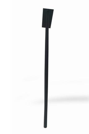 Wooden Gold Geniş Tabanlı Daha Az Ayak Kullanılan Model Siyah Rustik Tarz Üçlü Model Masa Sehpa Ayağı 80 cm 1