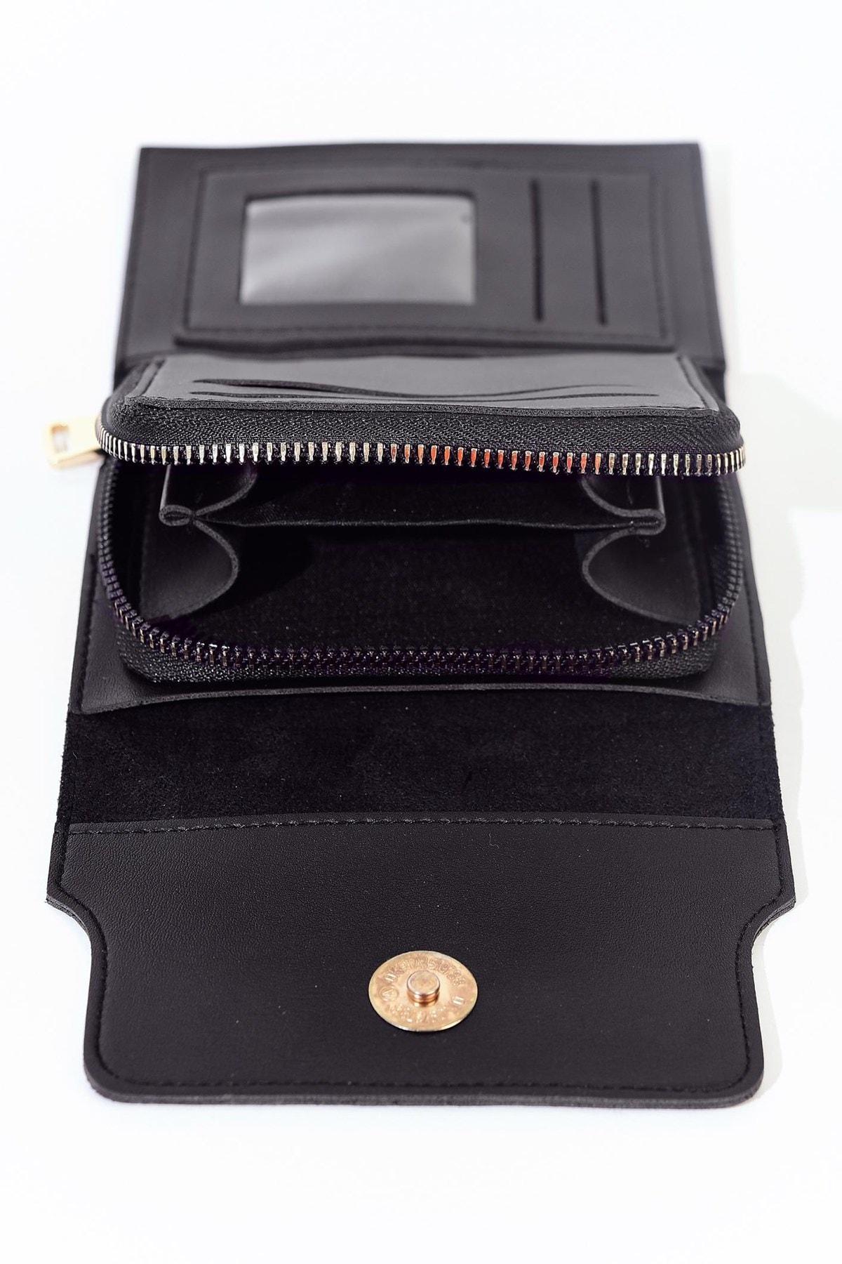 Addax Kadın Siyah Cüzdan Czdn50- A9 ADX-0000019582 2