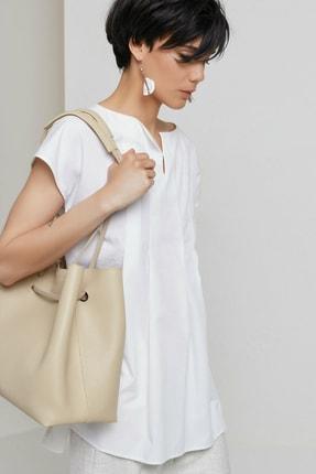 Yargıcı Kadın Kırık Beyaz Tunik Gömlek 9KKGM6142X 3
