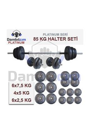 Dambılcım Platinum 85 KG Halter Seti 85 KG Dambıl Seti Ağırlık Seti Vücut Geliştirme Aleti 2