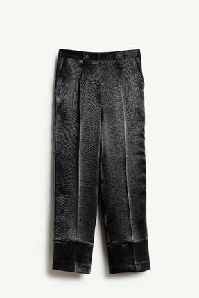 Yargıcı Kadın Siyah Biye Detaylı Pantolon 9KKPN3127X 0