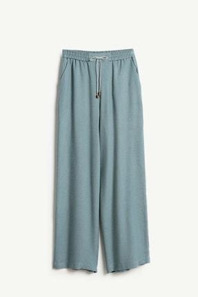 Yargıcı Kadın Nil Yeşili Biye Detaylı Pantolon 9KKPN3128X 1
