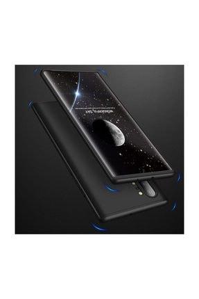 Telefon Aksesuarları Galaxy Note 10 Plus Kılıf Tam Koruma 360 Sert Silikon 3 Parçalı Ays Siyah Kırmızı 2