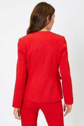 Koton Kadın Cep Detaylı Ceket 4