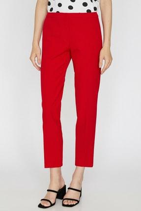 Koton Kadın Kırmızı Düz Kesim Pantolon 0KAK42500RW 2
