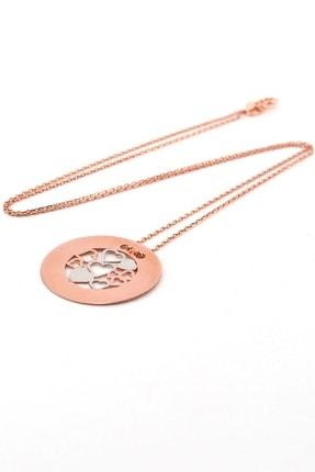 Solfera Kadın Minik Kalpler Roze 925 Ayar Gümüş Kolye Zincir Q0177 1
