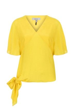 İpekyol Kadın Sarı  Kolları Volanlı Kuşaklı Bluz IS1190006401009 2