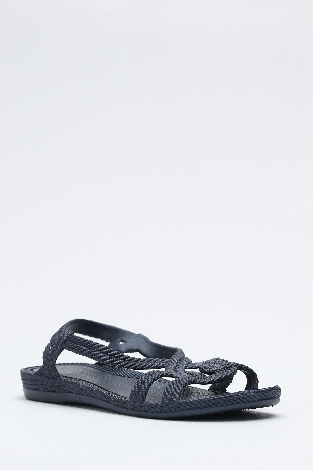 Ayakkabı Modası Lacivert Kadın Sandalet M9999-19-100244R 1