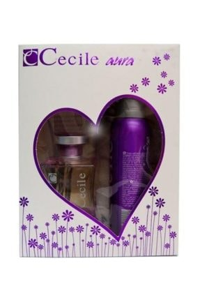 Cecile Aura Edt 100 ml Kadın Parfüm + 150 ml Deodorant Set 0