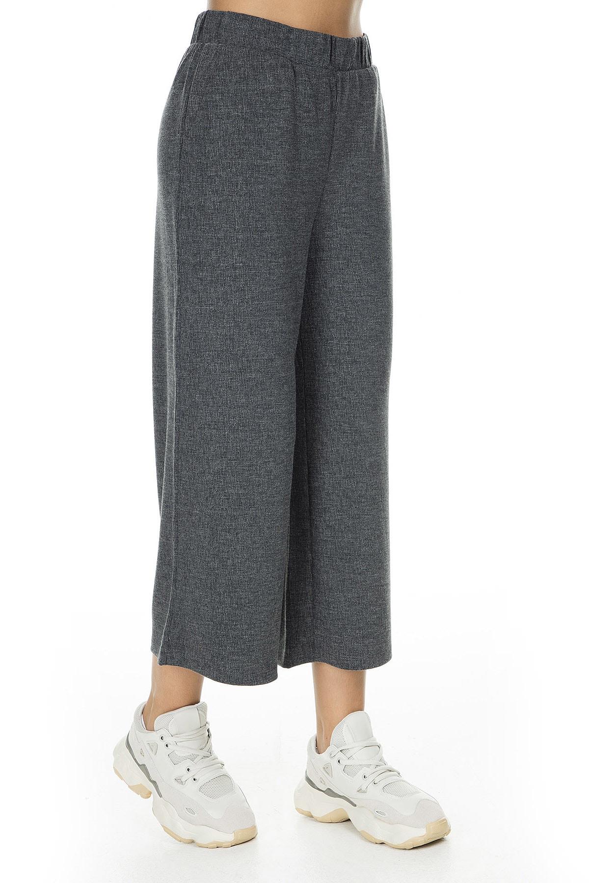 Vero Moda Kadın Mat Füme Örme Pantolon 10222549 VMFALLULAH 10222549 2