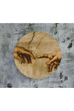 WuW Michelangelo Portre Yuvarlak Tasarım Mdf Tablo 1