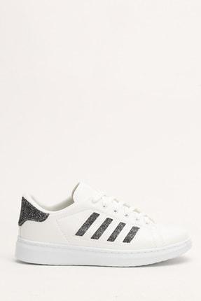 Du Jour Paris Beyaz Platin Kadın Spor Ayakkabı 4000-19-101001 4
