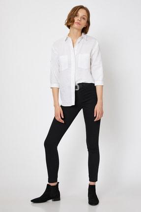 Koton Kadın Siyah Pantolon 0KAK47337DD 0