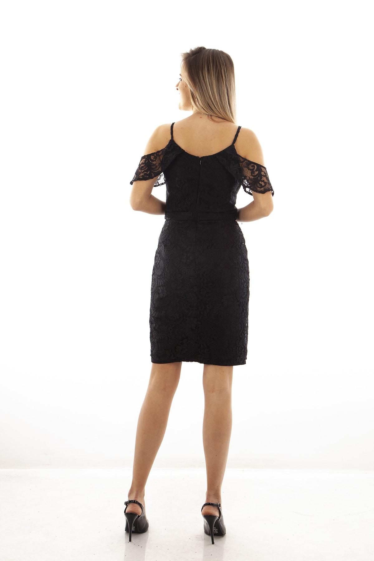 Ardanewline Kadın Siyah Elbise 130122-10 2