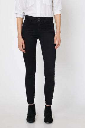Koton Kadın Siyah Pantolon 0KAK47337DD 2