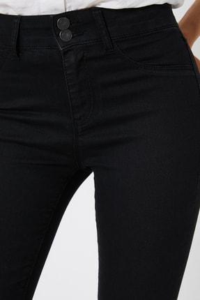 Koton Kadın Siyah Pantolon 0KAK47337DD 4