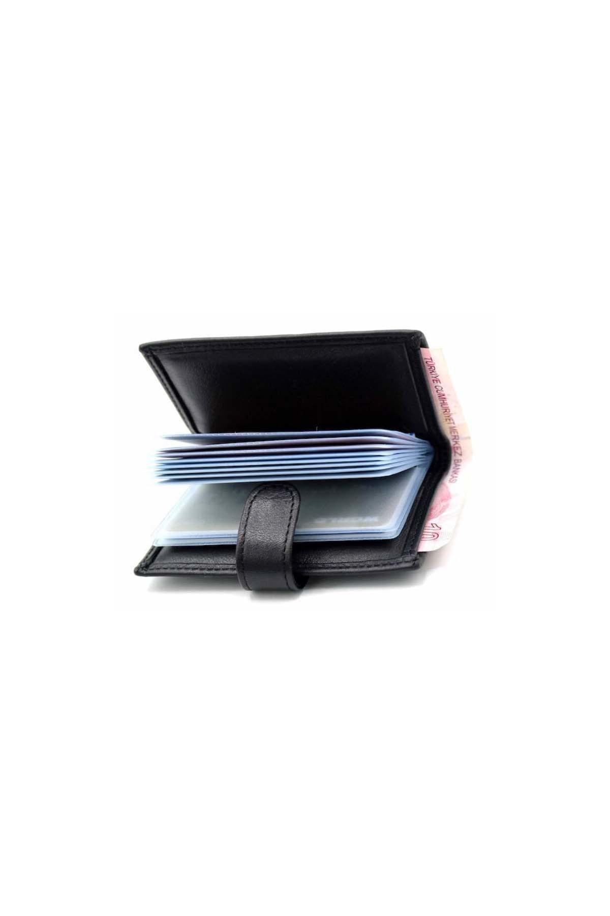 WEST POLO CÜZDAN Erkek Kahverengi Orjinal Deri Patlı Kağıt Para Gözlü Şeffaf Kartlık Wp3068 1