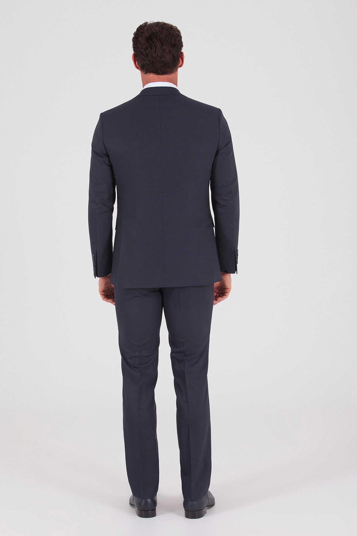 Hatemoğlu Yelekli Slim Fit Lacivert Takım Elbise 33202019D001 4