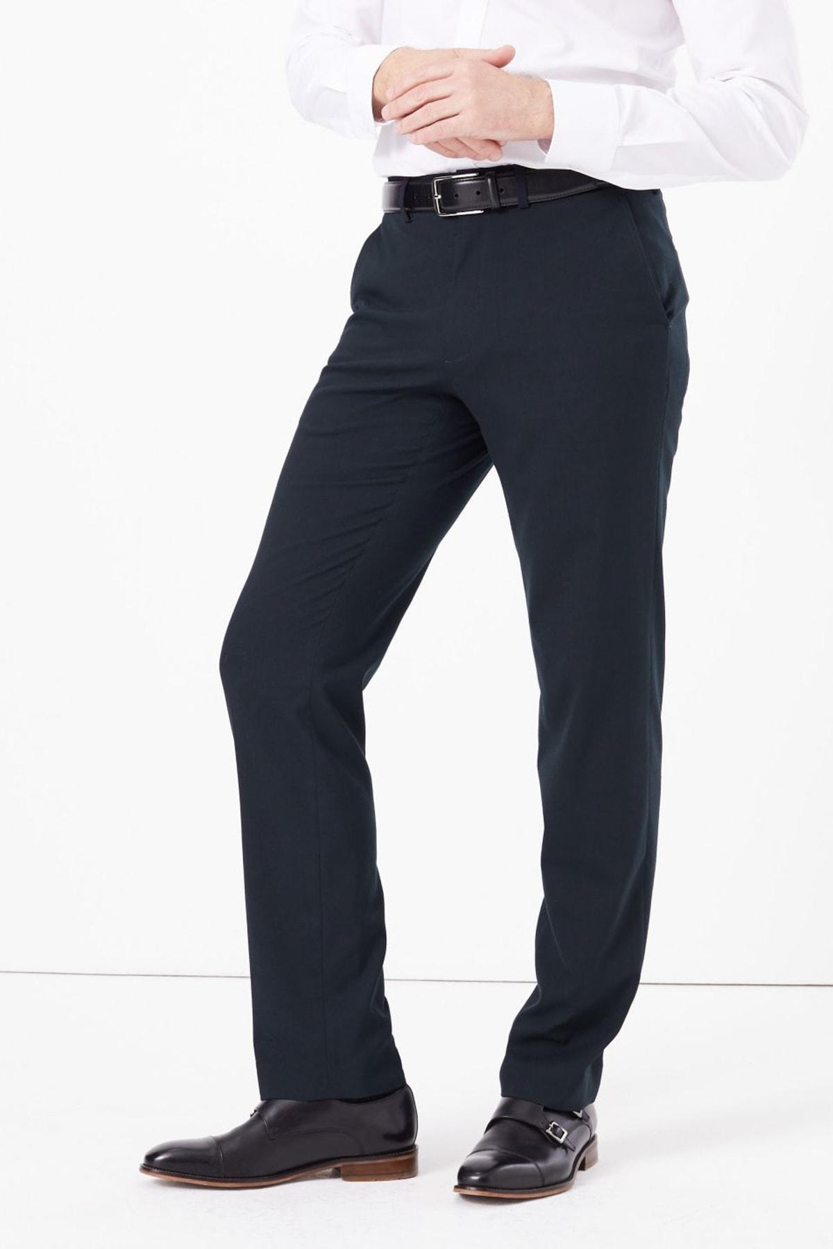 Erkek Lacivert Regular Fit Pantolon T18003985Y